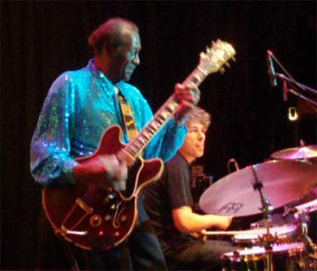 Mit Chuck Berry in Zürich 2009